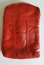 Eclipse Leather Red 100's Cigarette Zip Case Coin Purse Card Holder