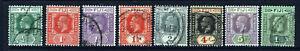 FIJI King George V 1922-27 Die II Wmk Mult Script CA Group SG 229 to SG 238 VFU
