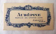 "ANCIENNE CARTE PARFUMEE ""AUBEPINE"" DE LA PARFUMERIE SALANCY ART DECO"