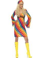 Rainbow Hippie Costume, US Size 8-10, 1970's Disco Fancy Dress/Cosplay #CA