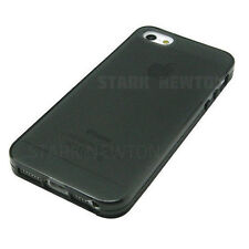 iPhone 5 5G 5S SE Case BLACK GRAY FROST CLEAR Thin TPU GEL Case Cover For Apple
