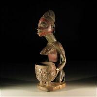 1347) Afrikanische Yoruba Fruchtbarkeits-Figur Nigeria Afrika KUNST