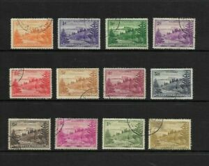 Norfolk Island - 1947 Set of 12 - used ( 2 higher catalogued stamps missing)
