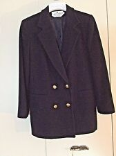 "Black Cashmere Blend Blazer Double Breasted ""The Works"" Saks Fifth Avenue Sz 10"