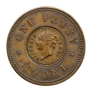 Joseph Moore - One Penny Model - Victoria - 1844-1848 - Copper/Brass Centre