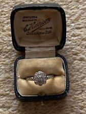 Antique Art Deco 18ct And Platinum Diamond Daisy Ring