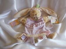 Doudou lapin Kalena l'indienne, marionnette, Doudou et compagnie (Cie)