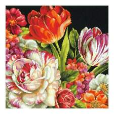 Dimensions Needlepoint Tapestry Kit D71-20079 Bouquet On Black
