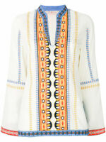 Tory Burch  Stephanie Tunic Embroidered  Size  6 Boho Chic S M Top