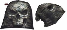 Spiral Direct CAMO-SKULL  Light Cotton Beanies Black/Halloweens/Reaper/Army/Hat