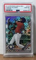 2019 YORDAN ALVAREZ BOWMAN MEGA BOX CHROME MOJO REF ROOKIE PSA 10 GEM MINT RC