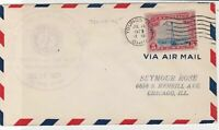 united states 1929 air mail flight stamps cover ref 20046
