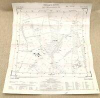 1957 Vintage Map of East Sussex Plumpton Wood Tanglewood Beresford Manor Farm