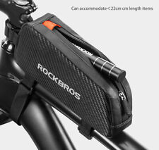 RockBros Bicycle Waterproof Reflective Frame Front Top Tube Bag Pouch Black New