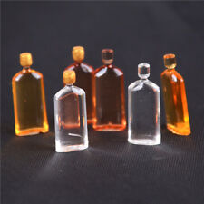 6X Dollhouse Miniature Wine Whisky Bottles Pub Bar Drinks Accessory Mini DecoEvG