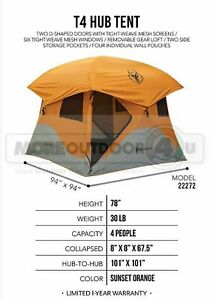 22272 NEW Outdoor Adventure Feature Loaded Gazelle T4 Camping Campground Tent