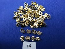 14K Gold Light Butterfly Friction Earrings Backs   (34 Pairs)    item #14