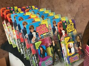 Austin Powers Action Figures Toys Lot of 15 - 5 Sealed and 10 Open