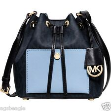 Michael Kors Bag 30H5GG1M1B MK Greenwich Small Bucket  Blue Sky Blue Agsbeagle