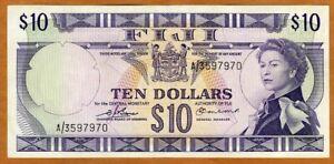 FIJI, $10 dollars, ND (1974), P-74b, QEII, UNC