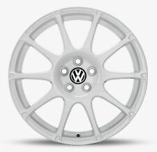 "NEW GENUINE VW POLO 17"" WHITE MOTORSPORT GTR24 SINGLE ALLOY WHEEL"