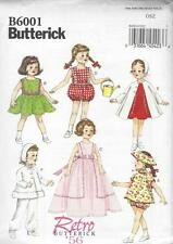 "BUTTERICK SEWING PATTERN RETRO 1956 18"" CLOTHES SHORTS HAT SUNSUIT DRESS  B6001"
