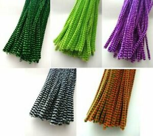 Premium Craft Pipe Cleaners Chenille 30cm x 6mm  Mixed Colours approx 1000
