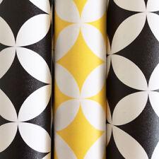 Schrankfolie Klebefolie Elliott Retro gelb  schwarz 3 Rollen a 45 cm x 200 cm