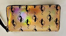 Baby Phat Metallic Copper Look Wallet Zip Around Organizer - Free Shipping