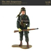 ☆ 1:18 21st Century Toys Ultimate Soldier WWII US Army Airborne Inf. Soldier