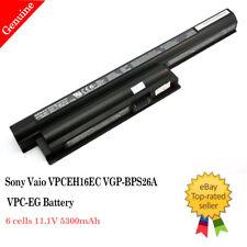Genuine OEM Sony vaio vgp-bps26a tested 11.1v 59Wh 5300mAh Li-ion battery