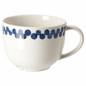 IKEA MEDLEM mug 8 cm white/blue/patterned