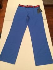 NWT Boys Tommy Hilfiger Slim Fit Blue With Red Striped Belt Pants Size 20