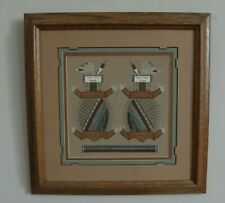 More details for vintage navajo sand-painting of water creatures