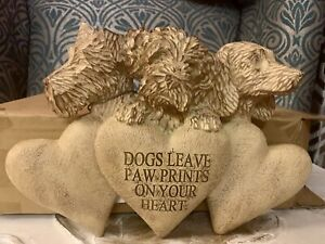 Next Dog Wall Plaque Ornament Charlie The Cockapoo Digby Dachshund 3 Hearts Paw