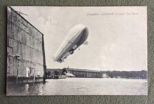 CPA. ZEPPELINS Luftschiff verlasst die Halle. Eduard Schwarz.