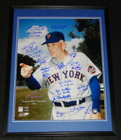 1962 1st New York Mets Team Signed Framed 16x20 Photo JSA LOA B