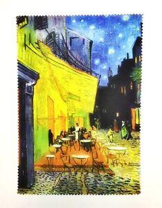 Lens cloth - Microfiber - Fine Art Design: Cafe Terrace at Night by Van Gogh