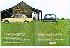 PUBLICITE   1969   FIAT 125  SPECIAL (2 PAGES)