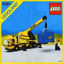 Lego Città    6361     Mobile Crane (1986) Visita il mio Negozio
