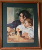 Photo of painting Gabrielle Renard & infant son, Jean.By Pierre-Auguste Renoir