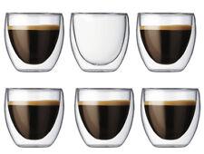 Doppelwandige Thermo Gläser 6 Stück Set  Kaffee Cappuccino Glas 250 ml