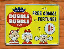 "TIN-UPS TIN SIGN ""Dubble Bubble"" Gum Food Ad Vintage Art Poster Man Cave"