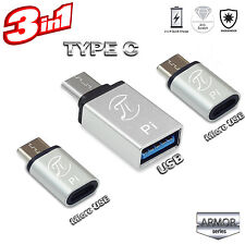 Pi Armor Adaptor OTG Three USB Type C adaptors kits