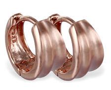 925 ECHT SILBER, ROTGOLD  *** Creolen Ohrringe matt 12 mm rosé vergoldet