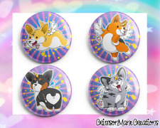 Corgi Unicorn Badges Buttons Pinback Pins Brooch Accessories Party Favors 32 mm