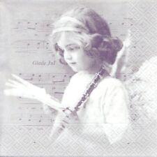 Lot de 2 Serviettes en papier Ange Musique Noël Sagen Vintage Decoupage Collage