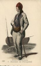 5 Homme de Plougastel Anciens Costumes Bretons French France Folklore Fashion
