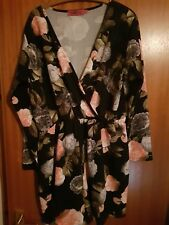 Ladies Floral wrap over Playsuit boohoo size  20