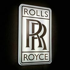 ROLLS ROYCE NEW ILLUMINATED LED LIGHT BOX WALL SIGN GARAGE AUTOMOBILIA BENTLEY